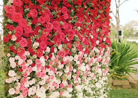 Floral wall for portraits