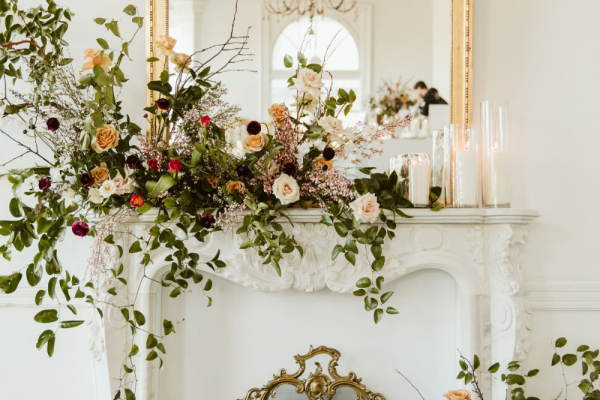 Florals in certain corners of the room