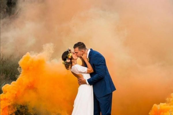 Smoke bombs during your park shoots
